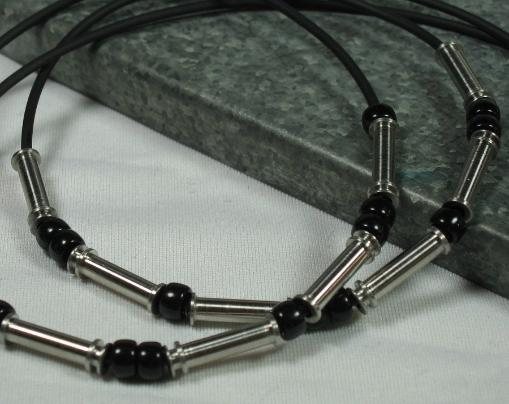 up-cycled medical stainless steel men's necklace or bracelet